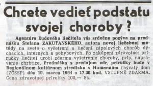 Ozveny Karpát 9.3.1994